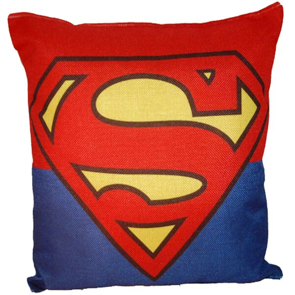 Superman 100% Cotton Throw Pillow by Lillowz